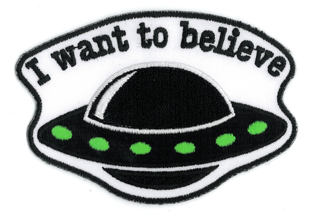 I Want To Believe Patch | Retro