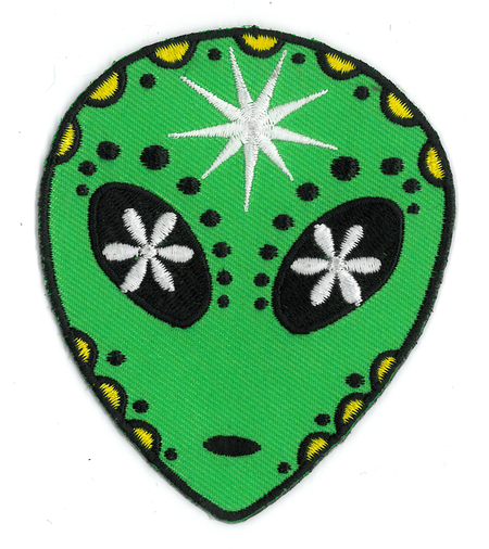 Alien Sugar Skull Patch | Celestial