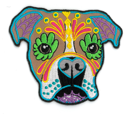 Cali's Boxer Embroidered Patch | Sugar Skulls