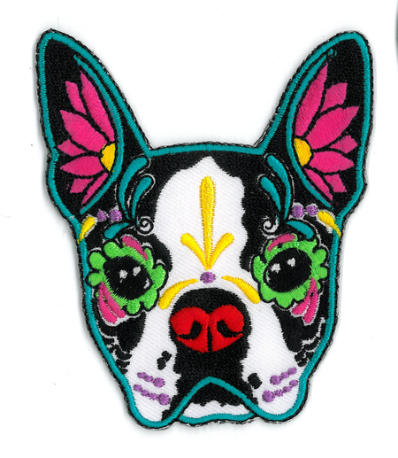 Cali's Boston Terrier Embroidered Patch | Tattoo