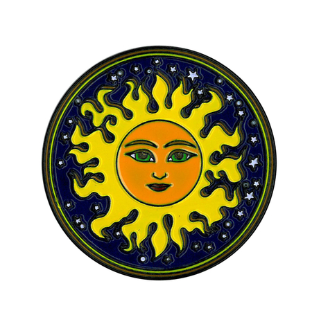 Dan Morris Sun Enamel Pin | Peace and Eco