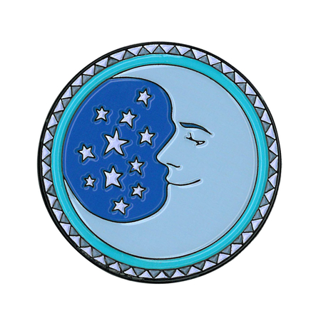 Dan Morris Moon Enamel Pin | Retro