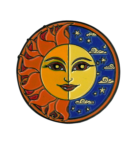 Dan Morris Sun/Moon Enamel Pin | Peace and Eco