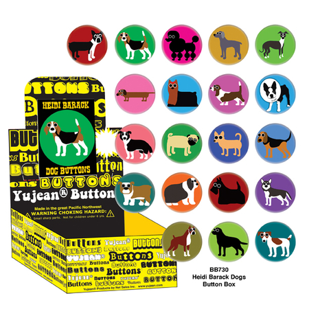 Heidi Barack Dogs Button Box | Critters