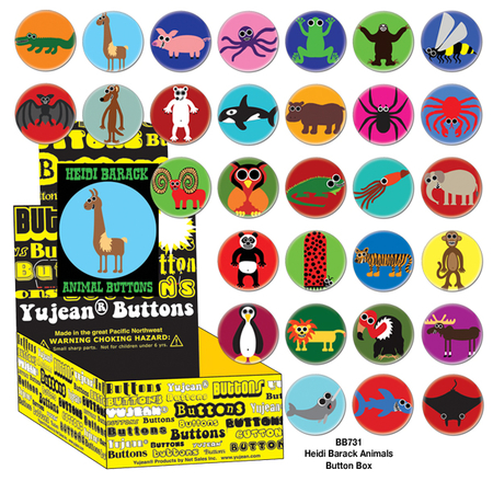Heidi Barack Animals Button Box | Button Boxes-WHOLESALE ONLY