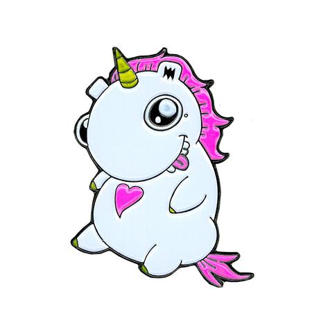 Emi Boz Chubby Unicorn Enamel Pin | Enamel Pins