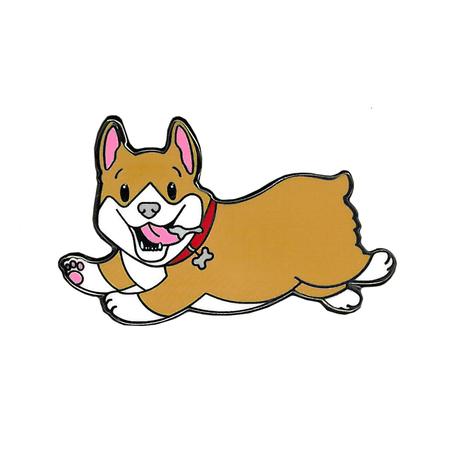 Emi Boz Corgi Enamel Pin | Dogs