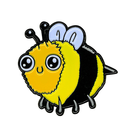 Dr. Krinkles Bee Enamel Pin | Peace and Eco
