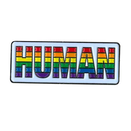 Human Rainbow Enamel Pin | Enamel Pins
