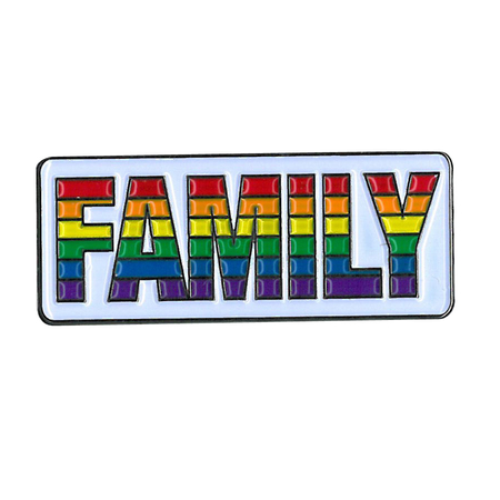 Family Rainbow Enamel Pin | Peace and Eco