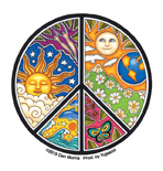 Dan Morris Mini Peace Sticker | Hippie