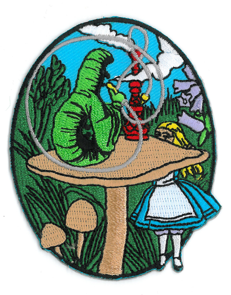 Alice and Caterpillar Patch | Hippie