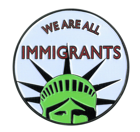 Immigrant Large Enamel Pin | Peace and Eco
