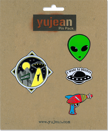 Alien Pin Pack | Enamel Pin Packs