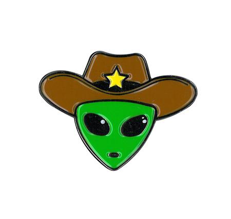 Alien Cowboy Enamel Pin | Enamel Pins