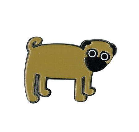Heidi Barack Pug Enamel Pin | Dogs