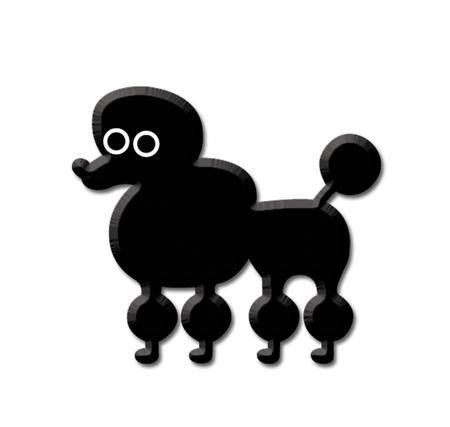Heidi Barack Poodle Enamel Pin | Enamel Pins