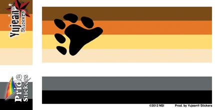 Bear Flag Sticker | Gay Pride, LGBT