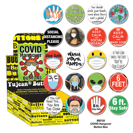 Covid Hangover Button Box | Button Boxes-WHOLESALE ONLY