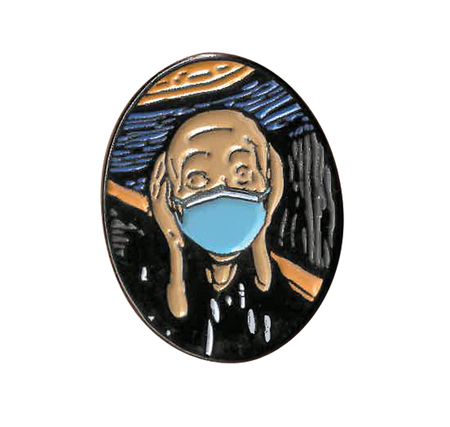 Masked Scream Enamel Pin | Enamel Pins