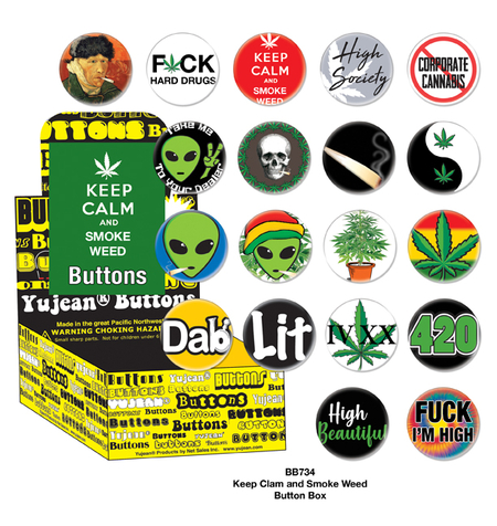 Keep Calm Smoke Weed Button Box | Button Boxes-WHOLESALE ONLY