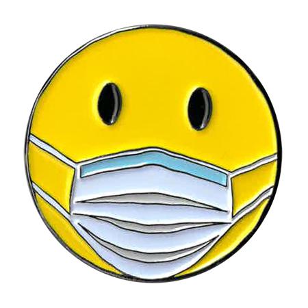 Smiley Mask Enamel Pin | NEW INTROS 2021