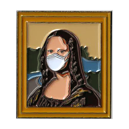 Mona Lisa Mask Enamel Pin | Enamel Pins
