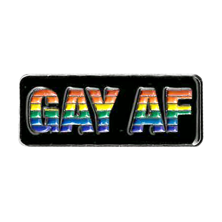 Gay AF Enamel Pin | Enamel Pins