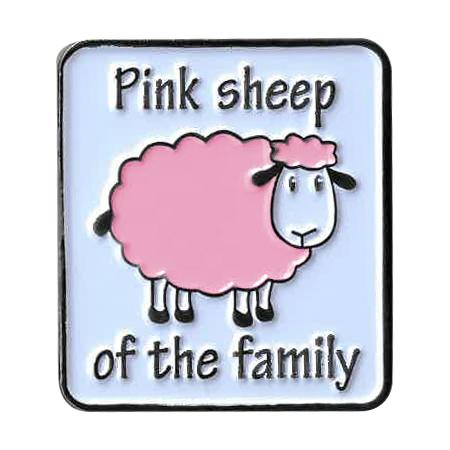 Pink Sheep Enamel Pin | Critters