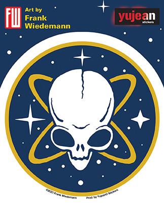 Wiedemann's Pirate Alien Sticker | Celestial