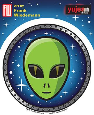 Wiedemann Space Alien Sticker | Stickers