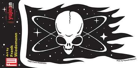 Wiedemann Pirate Alien Flag Sticker | Stickers