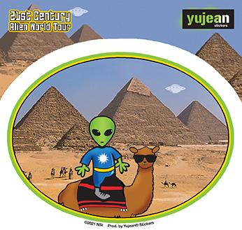 Pyramid Alien Sticker | Stickers
