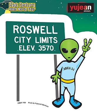 Roswell Alien Sticker | Stickers