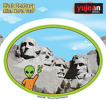 Mt. Rushmore Alien Sticker | Stickers