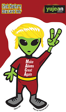 Make Aliens Great Sticker | Window Stickers: Clear Backing, Put Them Anywhere!
