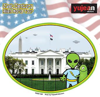 White House Alien Sticker   Stickers