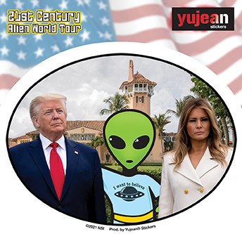 Don, Mel and Alien Sticker   Stickers