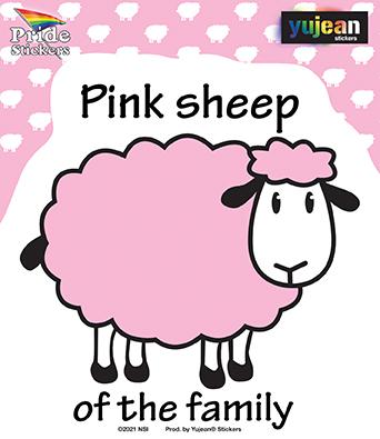 Pink Sheep Sticker | Stickers