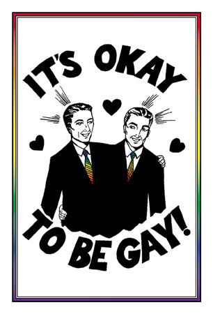 It's OK To Be Gay -Male Pride Postcard