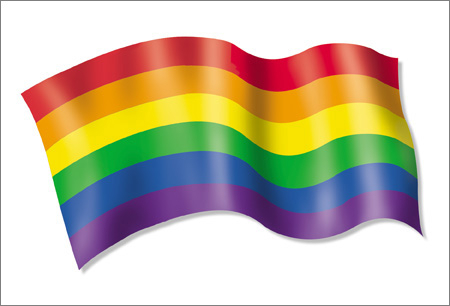 Pride Rainbow Flag Postcard