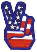 Peace Fingers Flag Patch