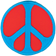 Mini Rainbow Peace Patch- Blue/Red