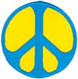 Mini Rainbow Peace Patch- Blue/Yellow