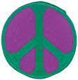 Mini Rainbow Peace Patch - Green/Purple