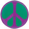 Mini Rainbow Peace Patch- Purple/Green
