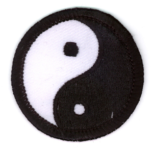 Mini Yin Yang Iron On Patch