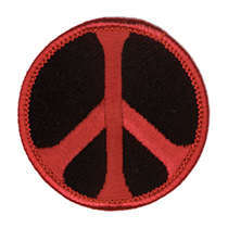 Peace Patch, Black and Red | Hippie