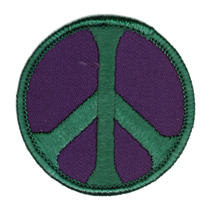 Peace Patch, Purple and Green | Hippie
