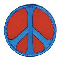 Peace Patch, Red and Blue | Hippie